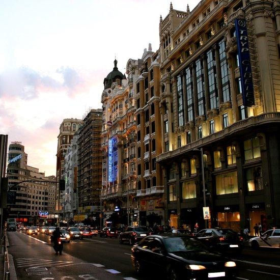 Gran Vía - Madrid Art Print