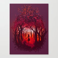 Canvas Print featuring The Forest by Peach Momoko