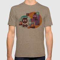 Adam and Eve. Mens Fitted Tee Tri-Coffee SMALL