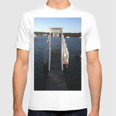 Wharf Walk White Mens Fitted Tee SMALL
