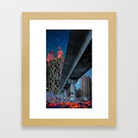 the built environment Framed Art Print