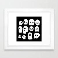 Spooky Skulls Framed Art Print
