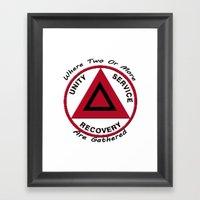 Alcoholics Anonymous Framed Art Print