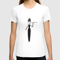 Eloise As Audrey Hepburn… Womens Fitted Tee White SMALL