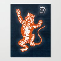 An Original Detroit Tiger's Logo (unofficial, of course) Canvas Print