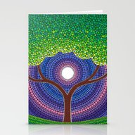 Happy Tree Of Life Stationery Cards