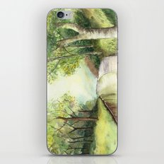 Trees by the canal iPhone & iPod Skin