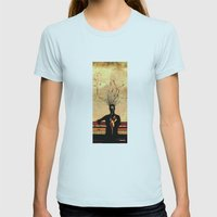 MIND On FIRE Womens Fitted Tee Light Blue SMALL