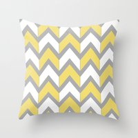Mustard Chevron Throw Pillow