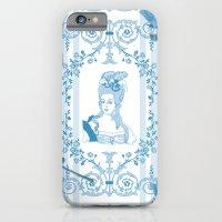 iPhone Cases featuring Marie-Antoinette Monogram (Aqua) by Vannina
