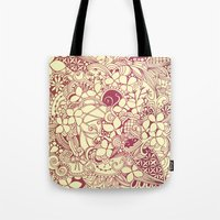 Yellow Square, Pink Flor… Tote Bag