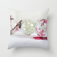 Christmas baubles Throw Pillow