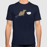 Rats Aren't Evil Mens Fitted Tee Navy SMALL