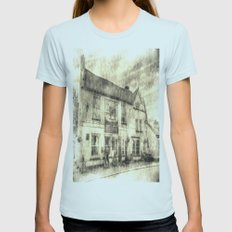 The Bull Pub Theydon Bois Vintage Womens Fitted Tee Light Blue SMALL