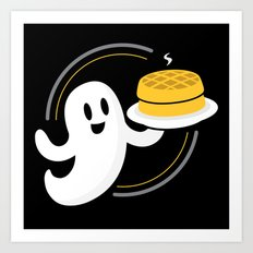 Ghost Waffles (Podcast) Art Print