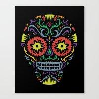 Sugar Skull SF multi -  black Canvas Print