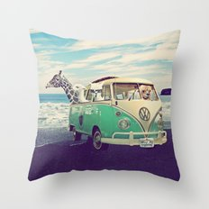 NEVER STOP EXPLORING THE BEACH Throw Pillow