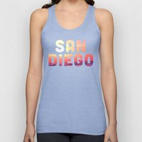 Mission Beach Sunset Unisex Tank Top