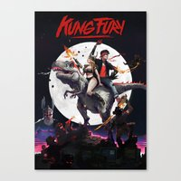 Kung Fury - Fan Poster Canvas Print