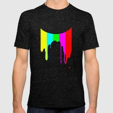 Colour Test Mens Fitted Tee Tri-Black SMALL