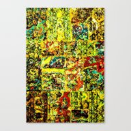Abstract In Yellow  Canvas Print