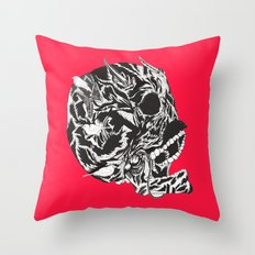 Skull Moustache Throw Pillow