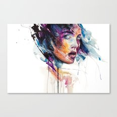 sheets of colored glass Canvas Print