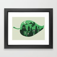 Framed Art Print featuring Let's Leave This Place by Dylan Morang