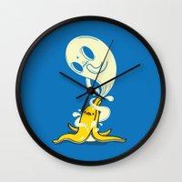 Banana Ghost Wall Clock