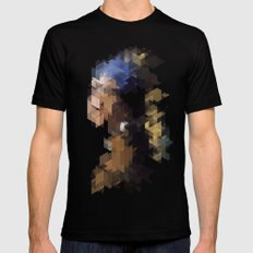 Panelscape Iconic  - Girl with a Pearl Earring Mens Fitted Tee Black SMALL
