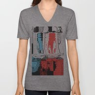 Unisex V-Neck featuring Ions by Rocovich