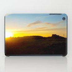 Winter sunset in Bamburgh iPad Case