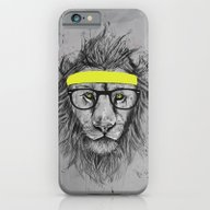 iPhone & iPod Case featuring Hipster Lion by Balazs Solti