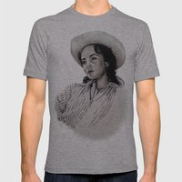 Elizabeth Taylor Mens Fitted Tee Athletic Grey SMALL