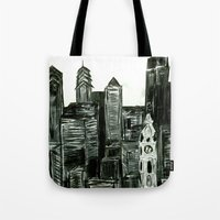 Black And White Philly S… Tote Bag