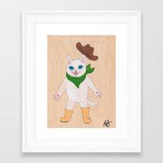 Woah! Kitty Framed Art Print