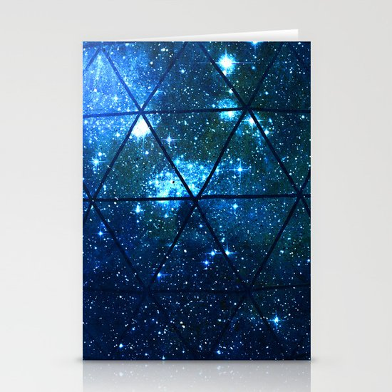 Star Geodesic Stationery Card