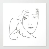 Face - Dove Canvas Print