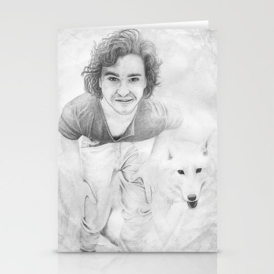 JON AND GHOST Stationery Card