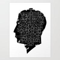 Pipe man Art Print