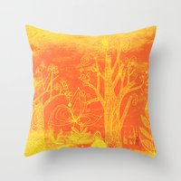 Marmalade Forest Throw Pillow