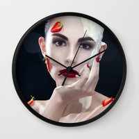 Strawberries & Cream Wall Clock