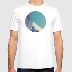Needle White SMALL Mens Fitted Tee