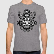 Râ Tatoo Mens Fitted Tee Tri-Grey SMALL