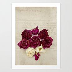 Poetry Roses Art Print