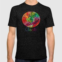 Color Theory Clash Mens Fitted Tee Tri-Black SMALL