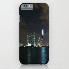 Miami night skyline iPhone 6 Slim Case