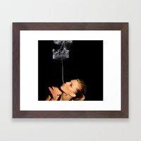 Smoke Crown Framed Art Print