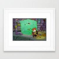 Dungeon Crawling Framed Art Print