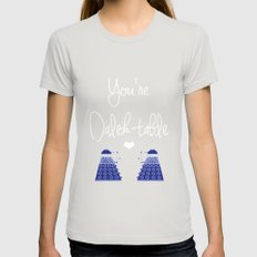 You're Dalek-table Doctor who Womens Fitted Tee Silver SMALL
